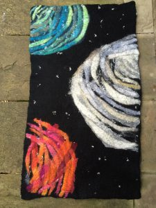 The Planets - felt wall art