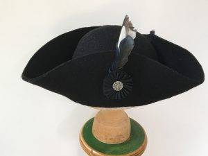 Tricorne with pleated ribbon cockade 2016