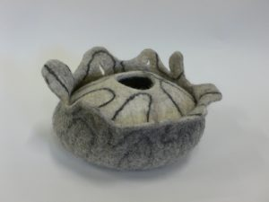 double resist vessel two toned grey with dark line